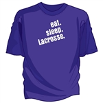eat. sleep. lacrosse. tee shirt