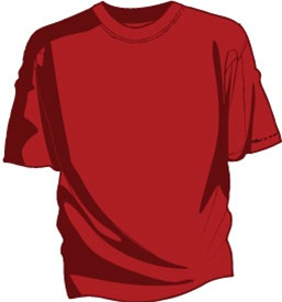 Unprinted Red Tee Shirt No Printing And Solid Red