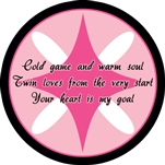Custom hockey pucks are collected by many and this one is Valentine Puck o1 in the series of  custom printed pucks