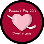 Custom hockey pucks are collected by many and this one is Valentine Puck o4 in the series of custom printed pucks