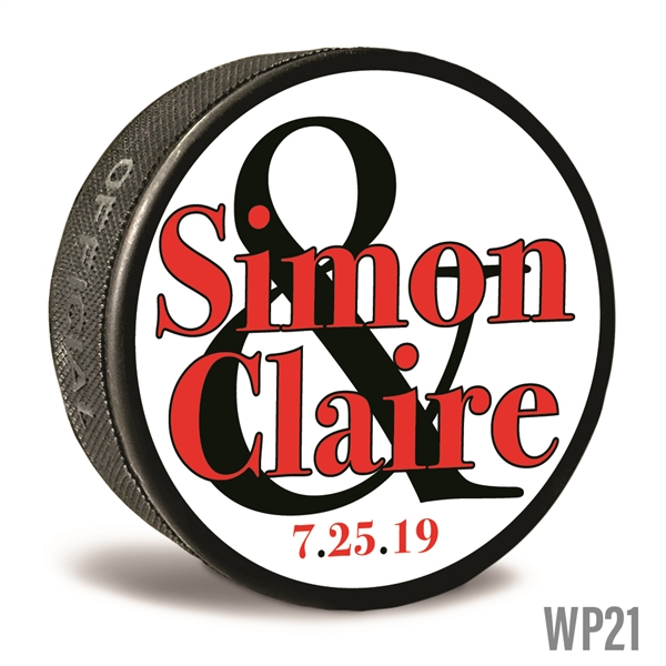 Big Names on Customizable hockey pucks and custom printed pucks