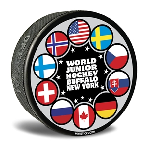 world junior hockey collector puck