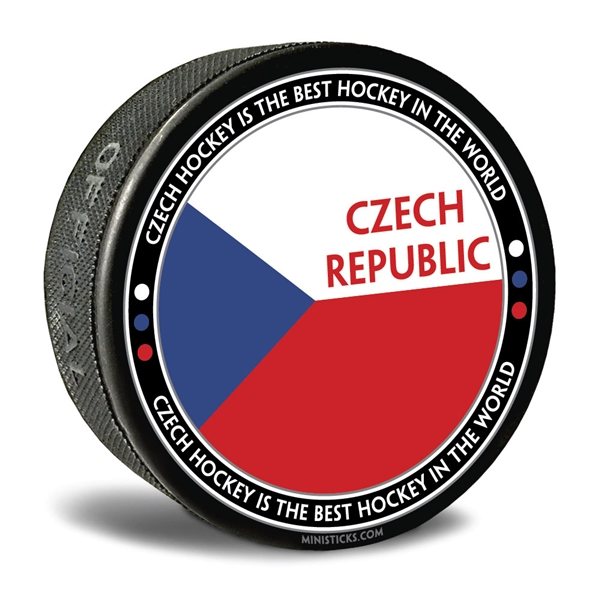world junior hockey Team Czech Republic, Team Czech Republic hockey puck