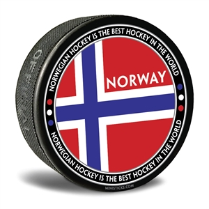 world junior hockey Team Norway, Team Norway hockey puck