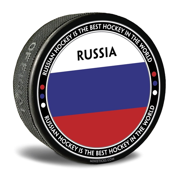 world junior hockey Team Russia, Team Russia hockey puck