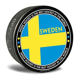 Team Sweden hockey puck