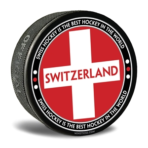 world junior hockey Team Switzerland, Team Switzerland hockey puck