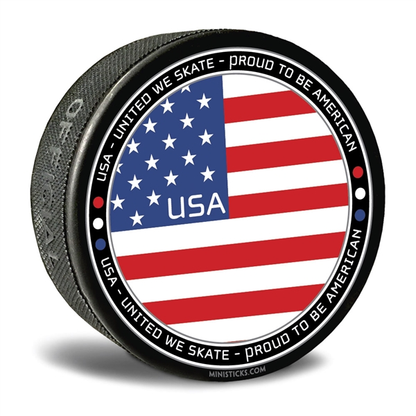 world junior hockey Team USA, Team USA hockey puck