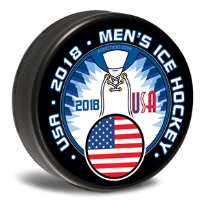 Mens Hockey Team USA. Customizable hockey pucks and custom printed pucks