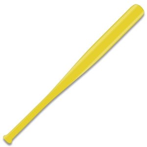 yellow mini baseball bat