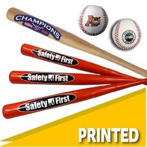 Baseball bats and souvenirs small baseball bats