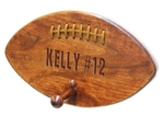 Football Shape Plaque with Peg for Hanging