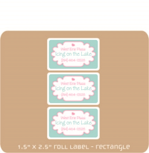 "1.5"" x 2.5"" Adhesive Roll label"