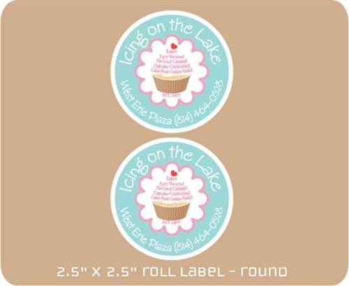 "2.5"" x 2.5"" Adhesive Roll Label"