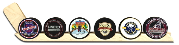 A nice puck display for your logo pucks
