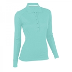 Zero Restriction Ladies Lana Long Sleeve Polo 0585L Embroidered Logo