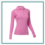 Zero Restriction Ladies Emma Long Sleeve Polo Custom Branded