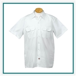 Dickies Adult Short-Sleeve Work Shirt with Custom Embroidery, Dickies Branded Shirts