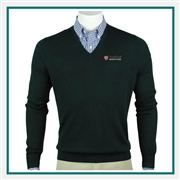 Fairway & Greene Men Baruffa Merino LS Classic V Neck Sweater Embroidered, Peter Millar Corporate Sweaters, Peter Millar Branded Sweater