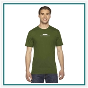 American Apparel US Fine Jersey USA Made T-Shirt Silkscreened