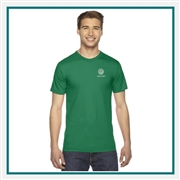 American Apparel US Fine Jersey T-Shirt Custom Embroidered