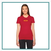 American Apparel Ladies' Fine Jersey USA Made T-Shirt Silkscreened