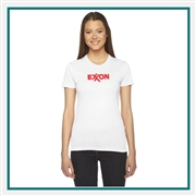 American Apparel Ladies' Fine Jersey T-Shirt Silkscreened