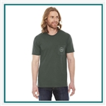 American Apparel Unisex Fine Jersey Pocket T-Shirt Custom Embroidered