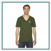 American Apparel Unisex Fine Jersey V-Neck T-Shirt Custom Embroidery