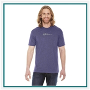 American Apparel Unisex Poly-Cotton Short-Sleeve Crewneck T-Shirt with Custom Embroidery, Custom Embroidered American Apparel T-Shirts, American Apparel BB401  T-Shirt Best Price