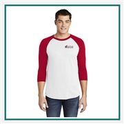 American Apparel Unisex Poly-Cotton 3/4-Sleeve Raglan T-Shirt BB453 with Custom Embroidery, Custom Embroidered American Apparel T-Shirts, American Apparel BB453  T-Shirt Best Price