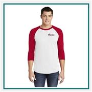 0d7b30672b5 American Apparel Unisex Poly-Cotton 3 4-Sleeve Raglan T-Shirt BB453