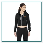 American Apparel Ladies Cropped Flex Fleece Zip Hoodie Co-Branded