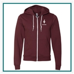 American Apparel Unisex Flex Fleece Zip Hoodie Custom Logo