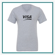 Bella + Canvas Unisex Jersey SS V-Neck T-Shirt with Silkscree
