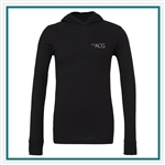 Bella + Canvas Unisex Jersey Long-Sleeve Hoodie 3512 - Embroidered, Custom Embroidered Bella Hoodies, Custom Logo Hoodies