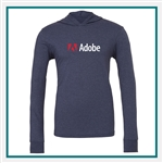 Bella + Canvas Unisex Jersey Long-Sleeve Hoodie with Custom Logo, Custom Logo Bella + Canvas Hoodies, Bella + Canvas Wholesale, Bella + Canvas Distributors
