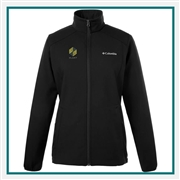 Columbia Women's Kruser Ridge Softshell with Custom Embroidery, Columbia Custom Softshell Jackets, Columbia Custom Logo Gear