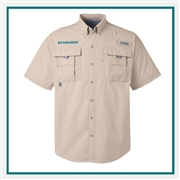 Columbia Men's Bahama II Short-Sleeve Shirt Stitched Logo