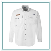 Columbia Men's Bahama II Long-Sleeve Shirt with Custom Embroidery, Custom Embroidered Columbia Shirt, Columbia Corporate Apparel, Custom Columbia Apparel