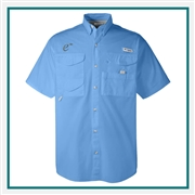 Columbia Men's Bonehead Short-Sleeve Shirt with Custom Embroidery, Columbia Promotional Shirts, Columbia Corporate Sales