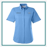 Columbia Ladies Tamiami II Short-Sleeve Shirt with Custom Embroidery, Columbia Custom Shirts, Columbia Custom Logo Gear