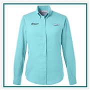 Columbia Ladies Tamiami II Long-Sleeve Shirt with Custom Embroidery, Columbia Custom Shirts, Columbia Custom Logo Gear