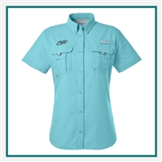 Columbia Ladies Bahama Short-Sleeve Shirt with Custom Embroidery, Columbia Custom Shirts, Columbia Custom Logo Gear