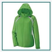 North End Sirus Ladies Lightweight Jacket With Embossed with Custom Embroidery, Jacket Custom Embroidered
