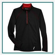 North End Ladies Radar Half-Zip Performance Long-Sleeve Top with Custom Embroidery, Top Custom Embroidered, North End Style 78187 with Corporate Logo, North End Custom Logo Long-Sleeves, Customized Long-Sleeves