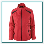 North End Ladies Tempo Lightweight Recycled Polyester Jacket Embossed Print with Custom Embroidery