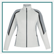 North End Ladies Strike Color-block Fleece Jacket with Custom Embroidery