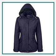 North End Ladies Excursion Transcon Lightweight Jacket Pattern with Custom Embroidery