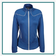 North End Sport Red Ladies Interactive Cadence Two-Tone Brush Back Jacket with Custom Embroidery